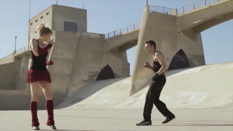Karate Gym Girl vs Kickboxer Guy Fight Scene Lili Rochefort Tekken Style