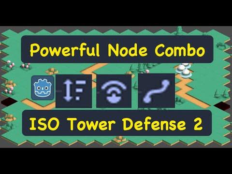 Remote Transform2D, Ysort, Path2D, Isometric Tower Defense Godot 3.1 Tutorial