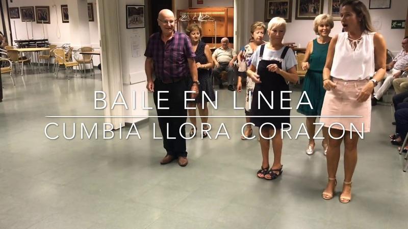Baile en Linea - Llora Corazon ( Cumbia )