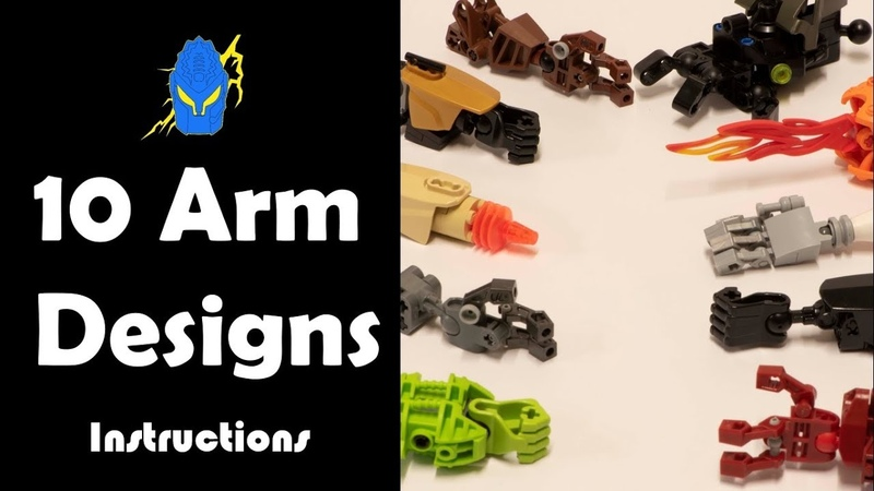 How To: 10 Bionicle Arm Designs Instructions