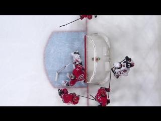 Alex Goligoski earns strange goal after puck gets caught in Cam Wards skate