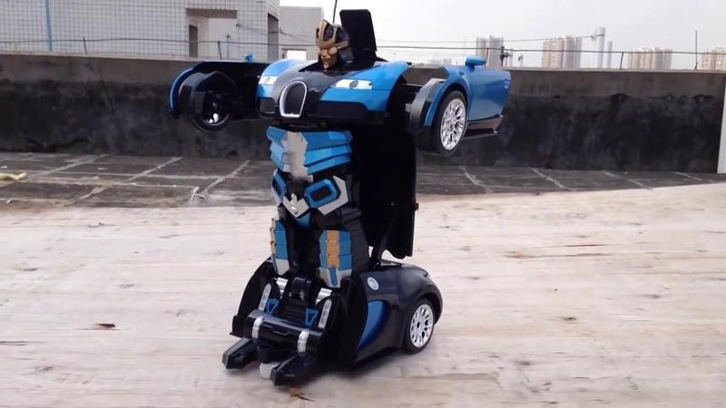 Машинка Трансформер робот Автобот на радиоуправлении 35 см