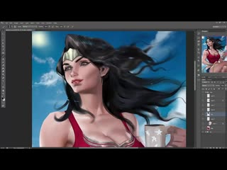 SakimiChan ART  - term 24 - wonder_woman_vidprocess