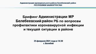 Брифинг Администрации МР Белебеевский район РБ по вопросам профилактики коронавирусной инфекции
