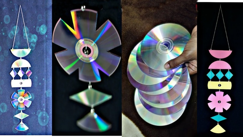 How to make ⚕️ wall Hanger with waste CD DIY Room decoration ideas Old DVD craft Waste to best