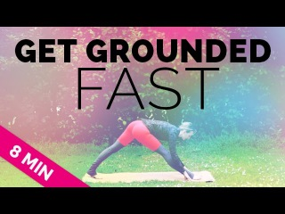 """Anti-Anxiety """"Get Grounded FAST"""" Yoga Sequence (8-Min) - ALL LEVELS - Quick Yoga (10 Minute Yoga)"""