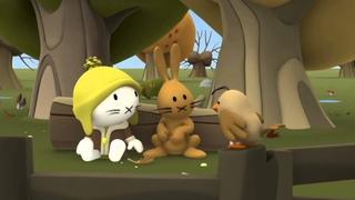 Мультики малышам - Котёнок Мусти - Осень - сборник 4