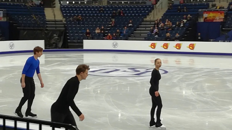 Boikova - Kozlovskii. Free program practice. Europe Championship. Minsk. 22.01.19