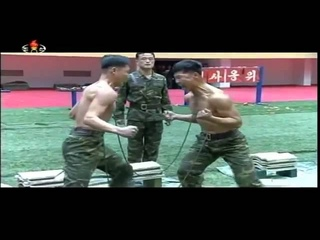 КНДР  Тренировка бойцов спецназа
