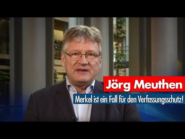 Jörg Meuthen Merkel ist ein Fall für den Verfassungsschutz