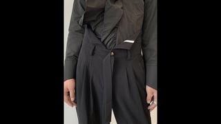 Прямые повседневные свободные брюки с тесьмой, подчеркивающие индивидуальность, простые новые осенние мужские брюки с широкими