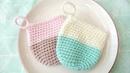【かぎ編み】100均材料のエコたわしの編み方How to crochet a acrylic dish scrubber