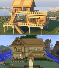 постройка домов для новичков в майнкрафте #5