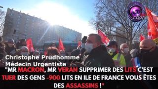 """""""Mr Macron, Mr Veran supprimer des lits c'est tuer des gens -900 lits en Ile de France"""""""