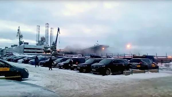 """© Стоп-кадр видео, опубликованного на странице """"Североморск"""" во """"ВКонтакте»"""