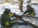 Армейский прикол - заводим пилу Дружба-2 Russian army, army