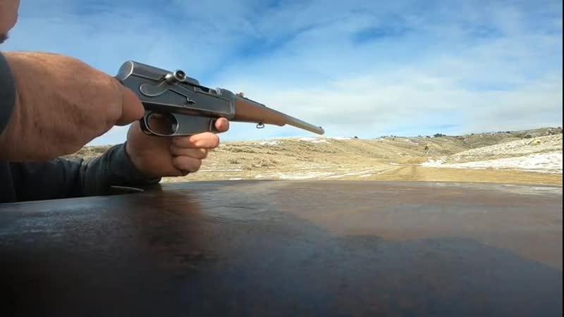 Снаряжение магазина и стрельба из Remington Model 8