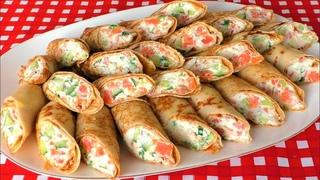 Тонкие блинчики с очень вкусной начинкой. Всегда готовлю на Масленицу, на Прощенное Воскресенье.