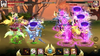 League of Angels - Paradise Land - 3 SSS heroes VS 6 SSS (272000+M VS 323000+M BR)