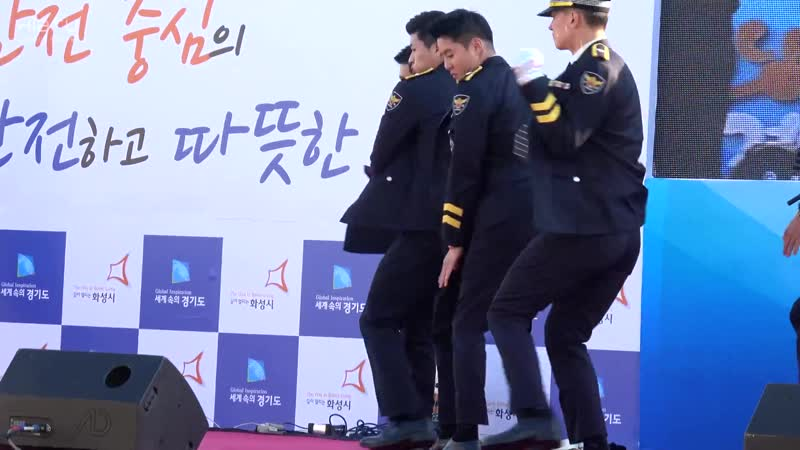 170922 전곡항 안전문화페스티발 119 경기남부경찰 홍보단 Uptown Funk ~ Dangerous 김준수 XIA Junsu ジュンス