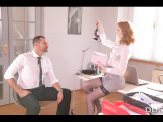 Lenina Crowne - British Babe Fucks The Boss - All Sex Teen Big Tits Juicy Ass Gonzo Hardcore Redhead Cum On Tits Stockings, Porn