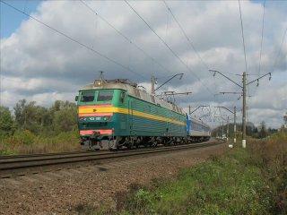Russian railway autunm