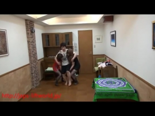Japanese lift and carry. two girls lift guy in various way. - youtube (360p)