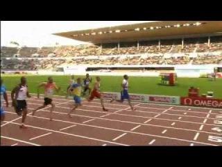 Men's 100m Semifinal 3 - Helsinki2012