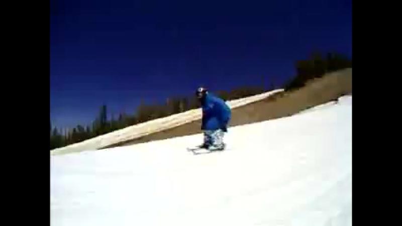 Harlo in snowblade's