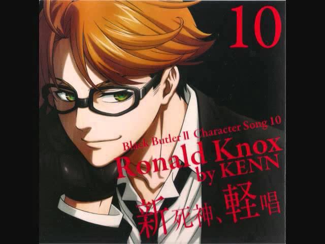 Kuroshitsuji Character Song Ronald Knox Kudokimonku Ja Nakute