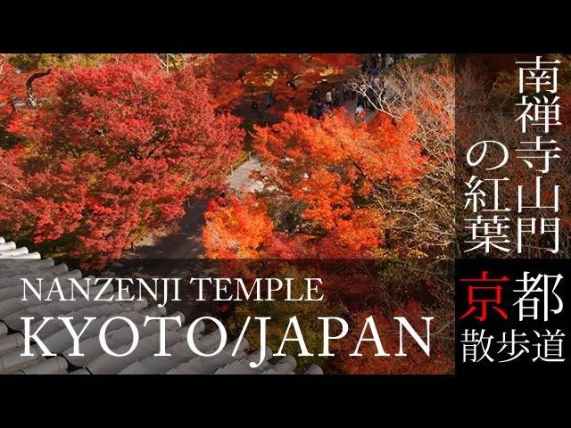 京都観光 南禅寺山門の紅葉 Autumn leaves of Nanzenji temple in Kyoto Japan BGMで日本旅行 京都散歩道