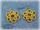 Tutorial chiacchierino ad ago realizzare gli orecchini Sunflower con la tecnica Ankars