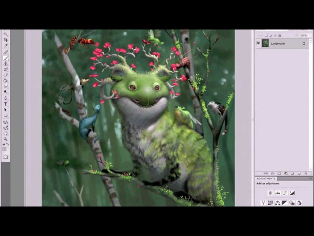 Create creatures like Bobby Chiu in Photoshop (with artist audio)