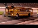 School Bus does wheelie at Texas Motor Speedway