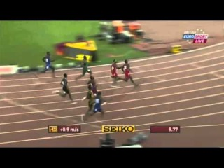 Justin Gatlin 9 77 Men's 100m Semis 2 IAAF World Championship Beijing 2015