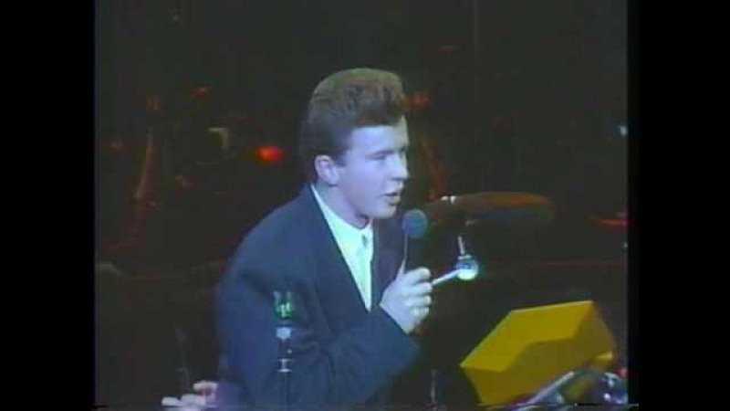 Rick Astley Never Gonna Give You Up Live 1987