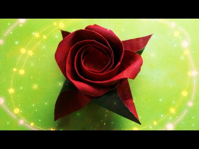Оригами Роза Masahiro Ichikawa Как Сделать Розу Цветы Из Бумаги Origami Rose