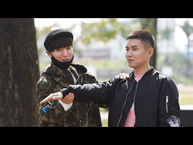 FANCAM 161011 Super Junior Leeteuk at Ryeowook's Enlistment Site