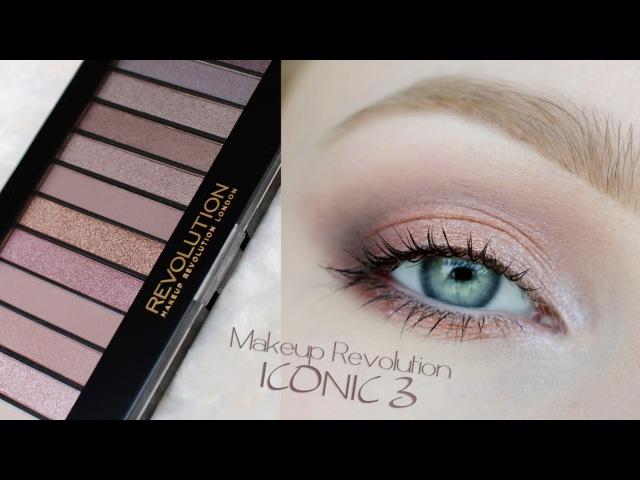 Makijaż delikatny dzienny ślubny ** Makeup Revolution ICONIC 3 ** makeup tutorial