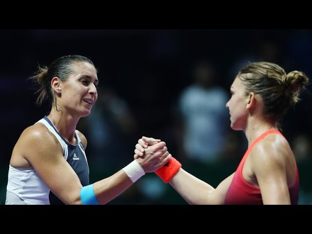 [HD] Simona Halep vs Flavia Pennetta YEC Singapore 2015 Highlights