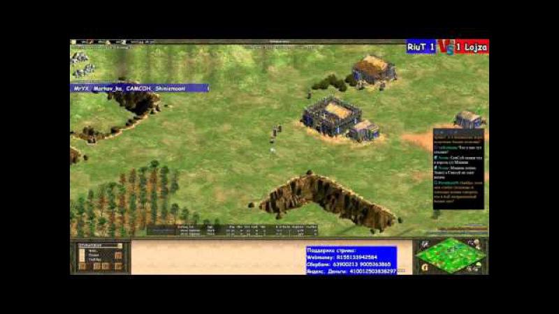 Age of Empires 2 TEC Platinum RiuT vs Lojza Viper vs Saymyname