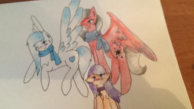 Рисую Дафку, Сонетьку и меня ;3