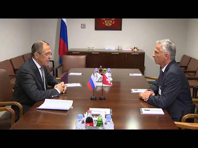 Sergey Lavrov and Didier Burkhalter | С.В.Лавров и Д.Буркхальтер