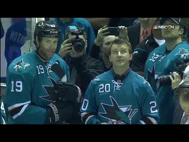 Gotta See It Sharks honour Nabokov at puck drop