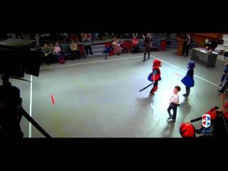 Состязания по мечевому бою среди детей в дисциплине щит/меч