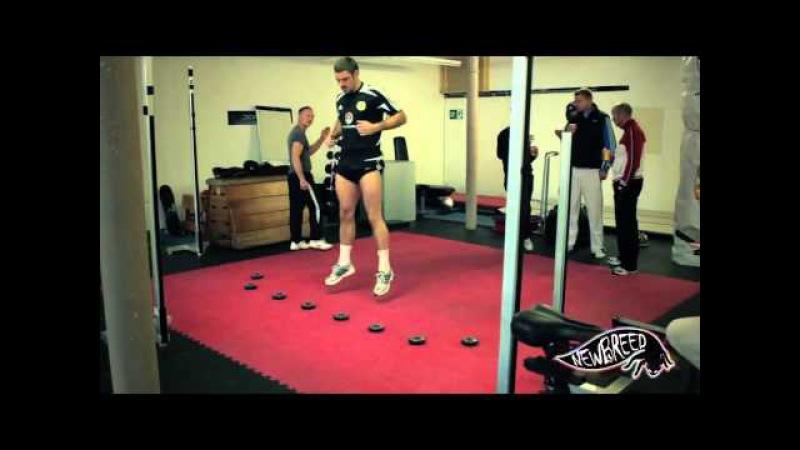Тренировка скорости реакции и работы ног на системе FitLight