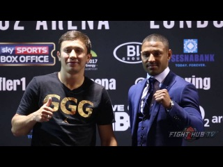 Gennady Golovkin vs. Kell Brook COMPLETE Face off video- New York Press Conference