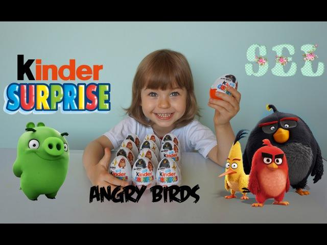Киндер Сюрприз Энгри Бердс Злые Птички в кино Kinder Surprise Angry Birds movie