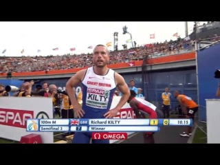 Men's 100m  Semifinal 3 European Athletics Championship Amsterdam 2016