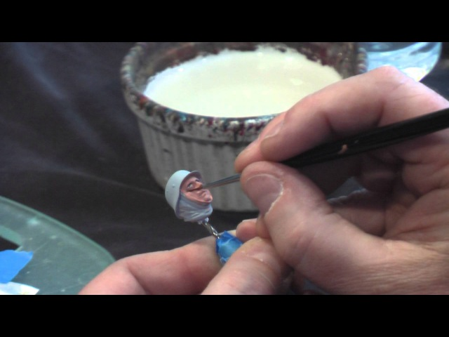 Painting Figures with Acrylics Part One - The Eyes